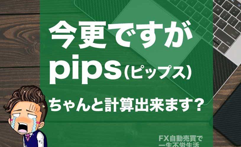 FXで知らないとついていけない『pips(ピップス)』の話