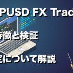 GBPUSD FX Traderの特徴と検証 設定について解説